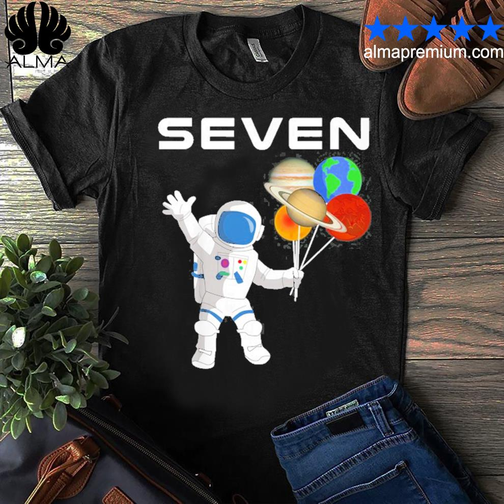 7 years old outer space birthday party 7th birthday shirt