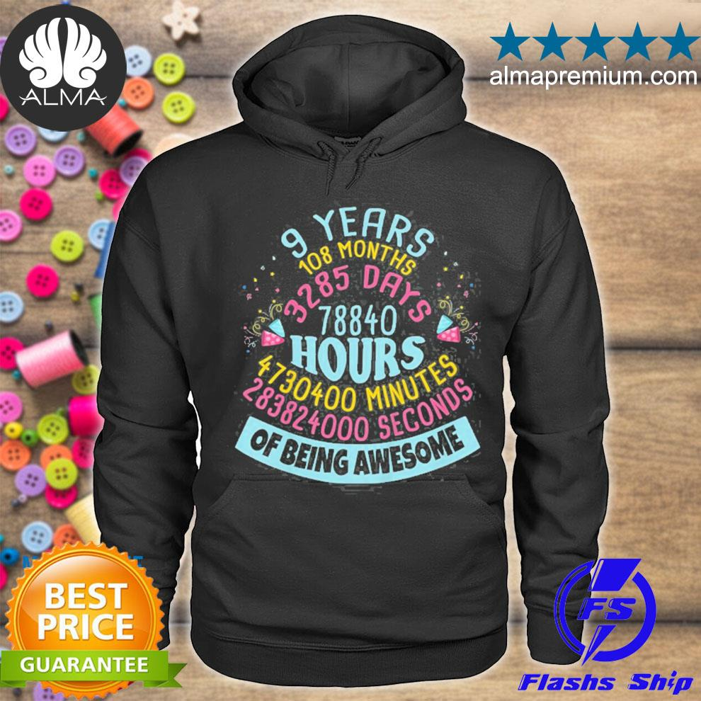 9 years old birthday 9th birthday children s hoodie