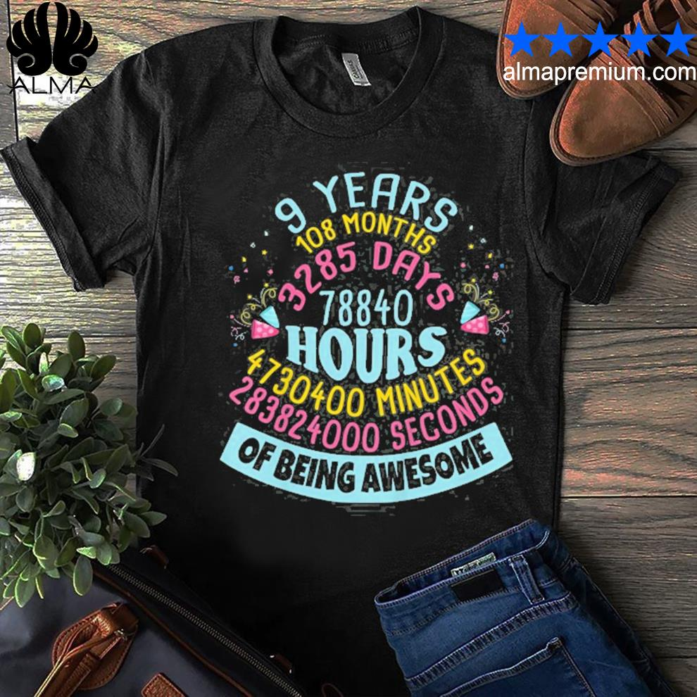 9 years old birthday 9th birthday children shirt