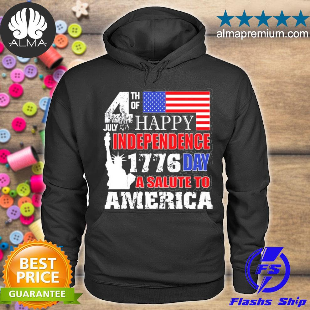 A salute to America 4th of july independence day s hoodie