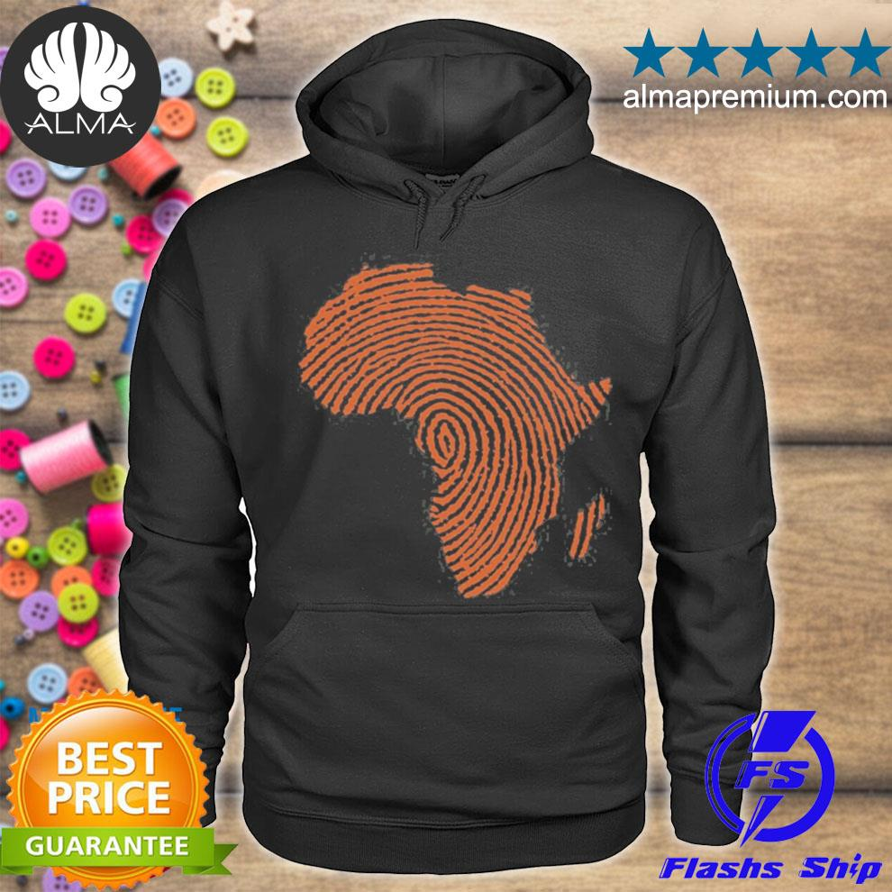 Africa DNA thumbprint flag. Africa pride design for african s hoodie