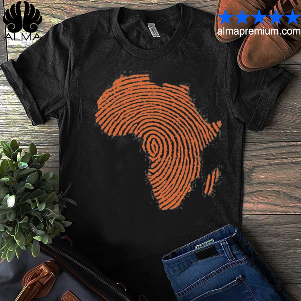 Africa DNA thumbprint flag. Africa pride design for african shirt