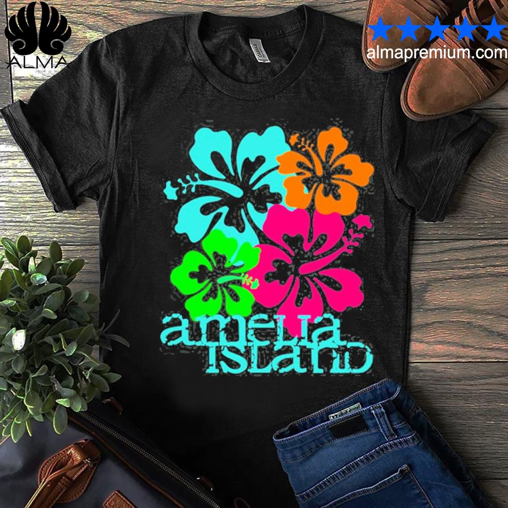 Amelia island beach tropical shirt