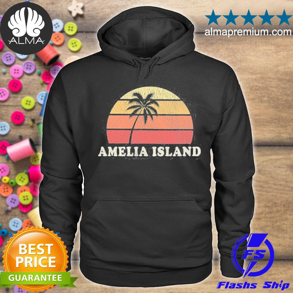 Amelia island fl vintage 70s retro throwback design s hoodie