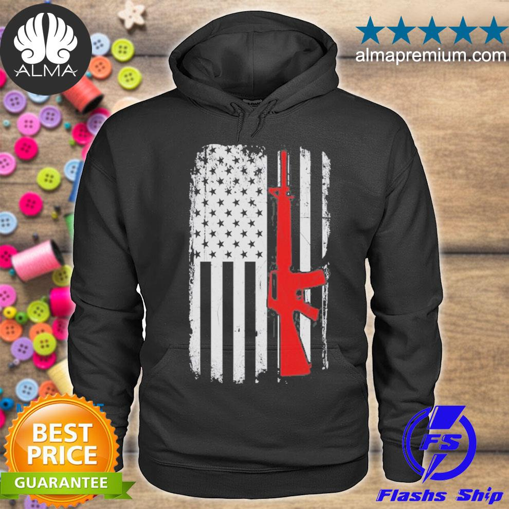 Ar15 American flag gun enthusiast 2nd amendment s hoodie