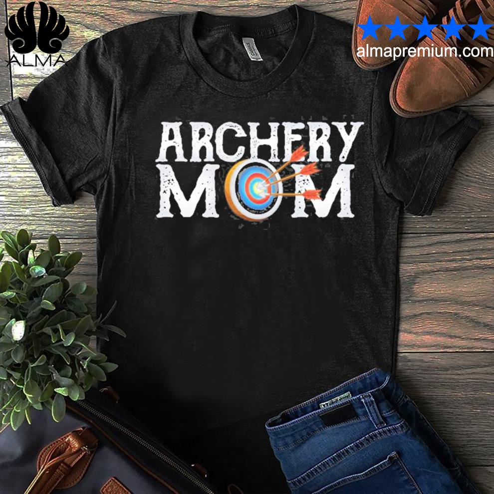 Archery archer mom target proud parent bow arrow shirt
