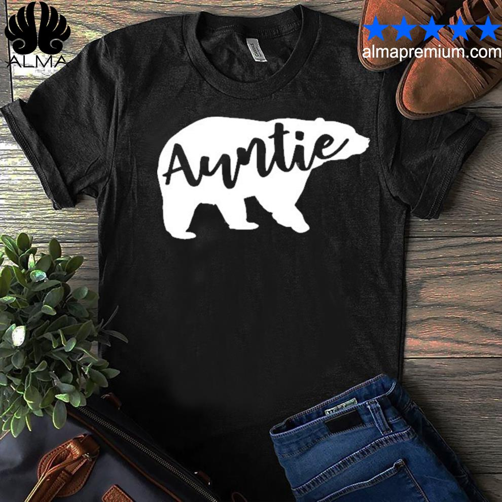 Auntie bear aunt life camping shirt
