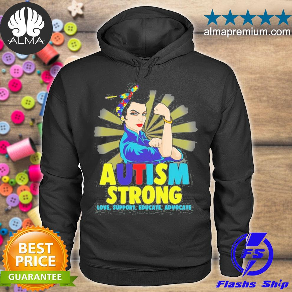 Autistic autism awareness strong for women mom s hoodie