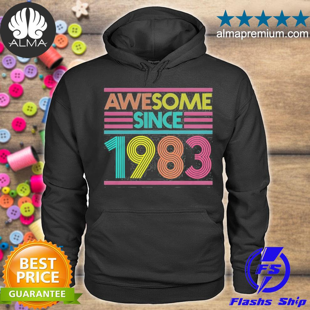 Awesome since 1983 38th birthday 38 years old s hoodie
