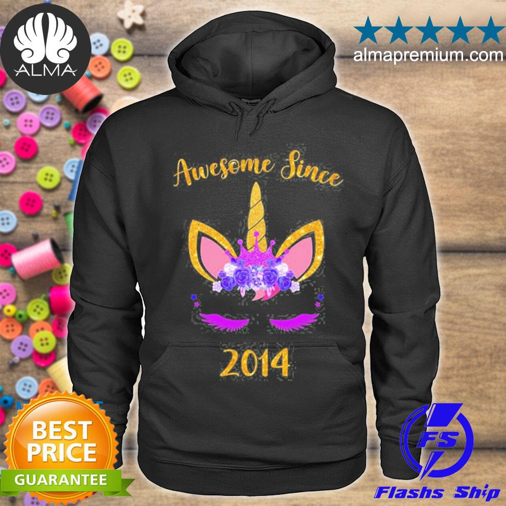 Awesome since 2014 unicorn s hoodie