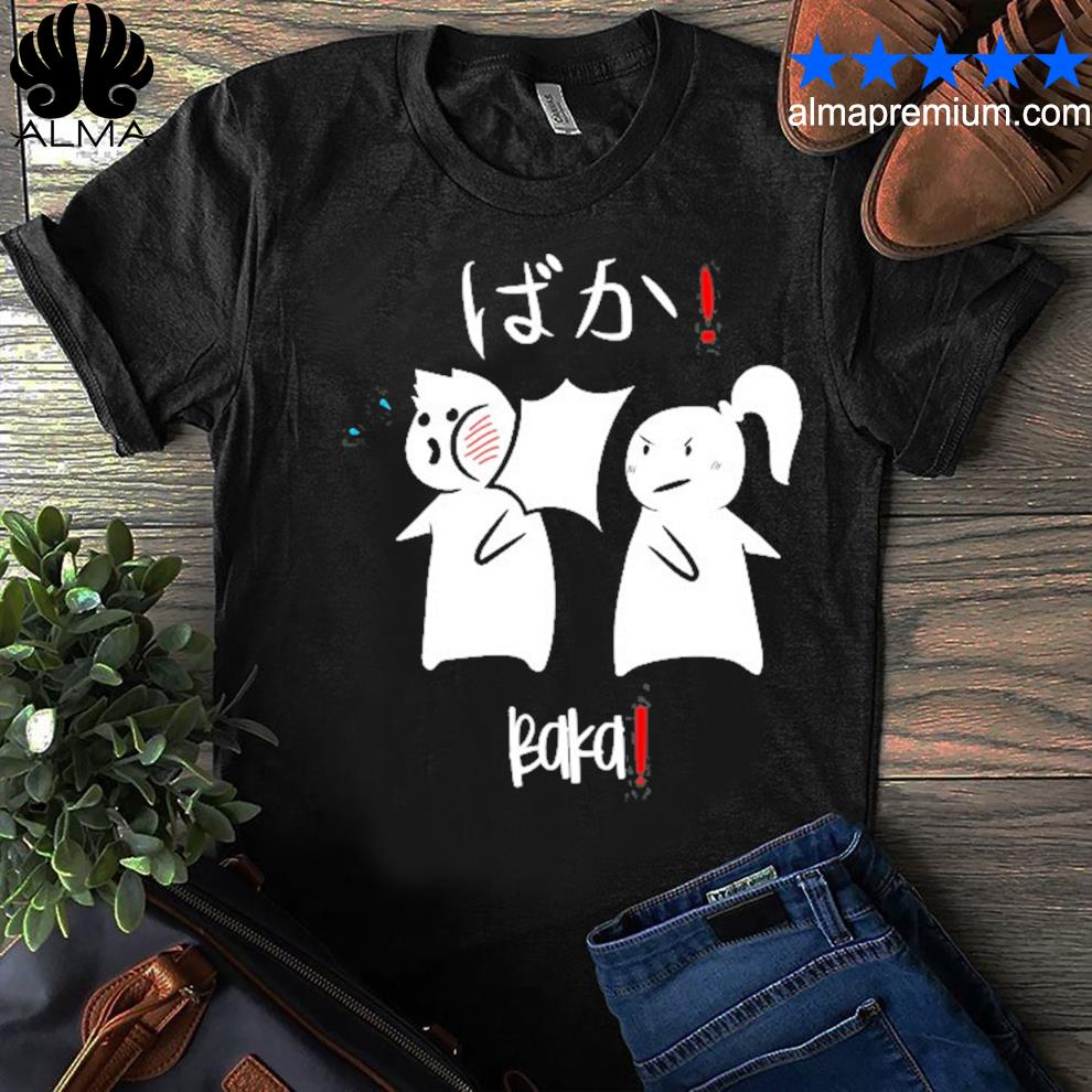 Baka! cute anime manga japanese design baka shirt
