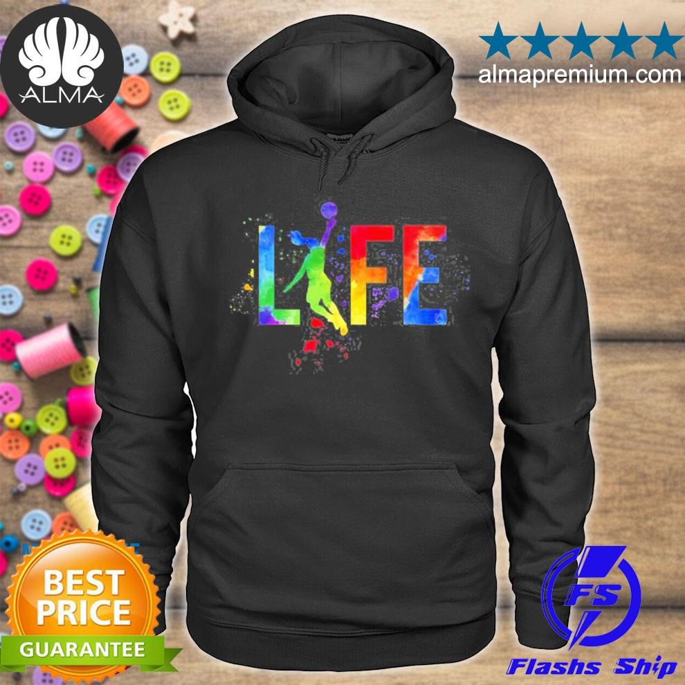Basketball womens ball is life watercolor for girls s hoodie
