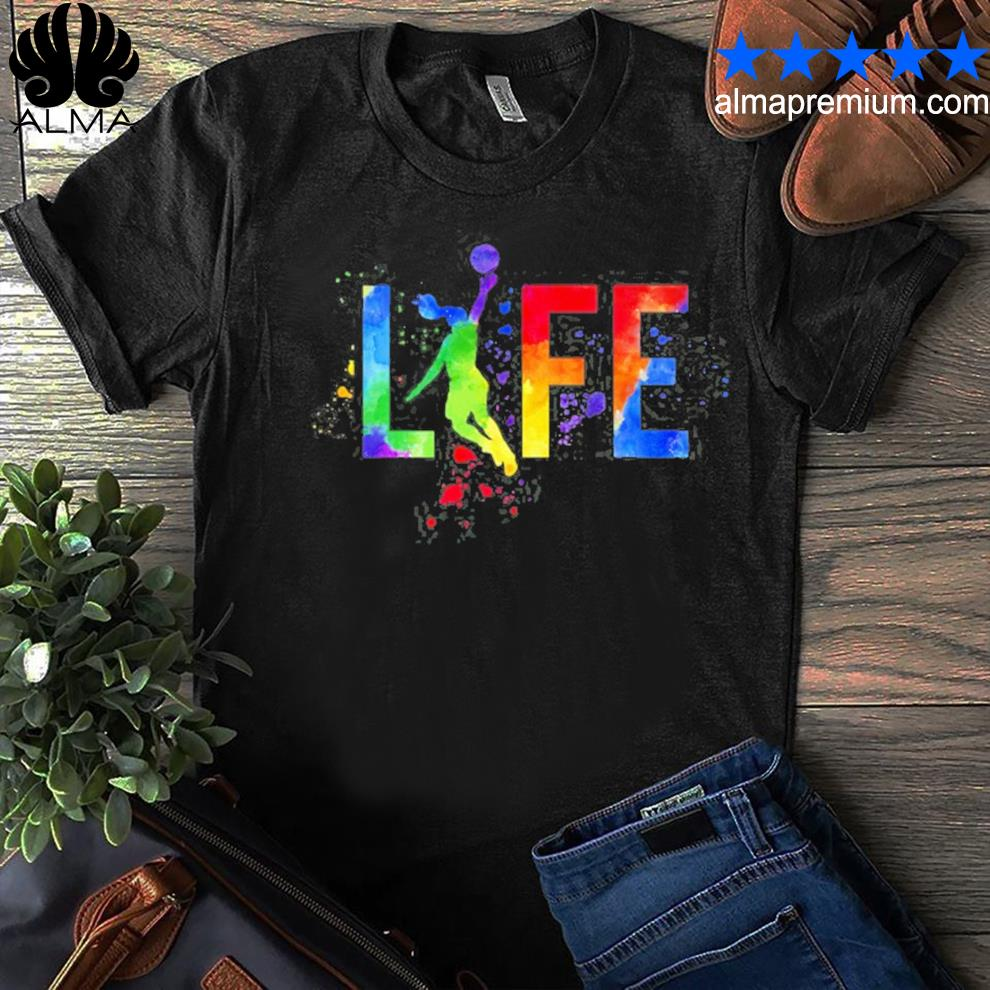 Basketball womens ball is life watercolor for girls shirt