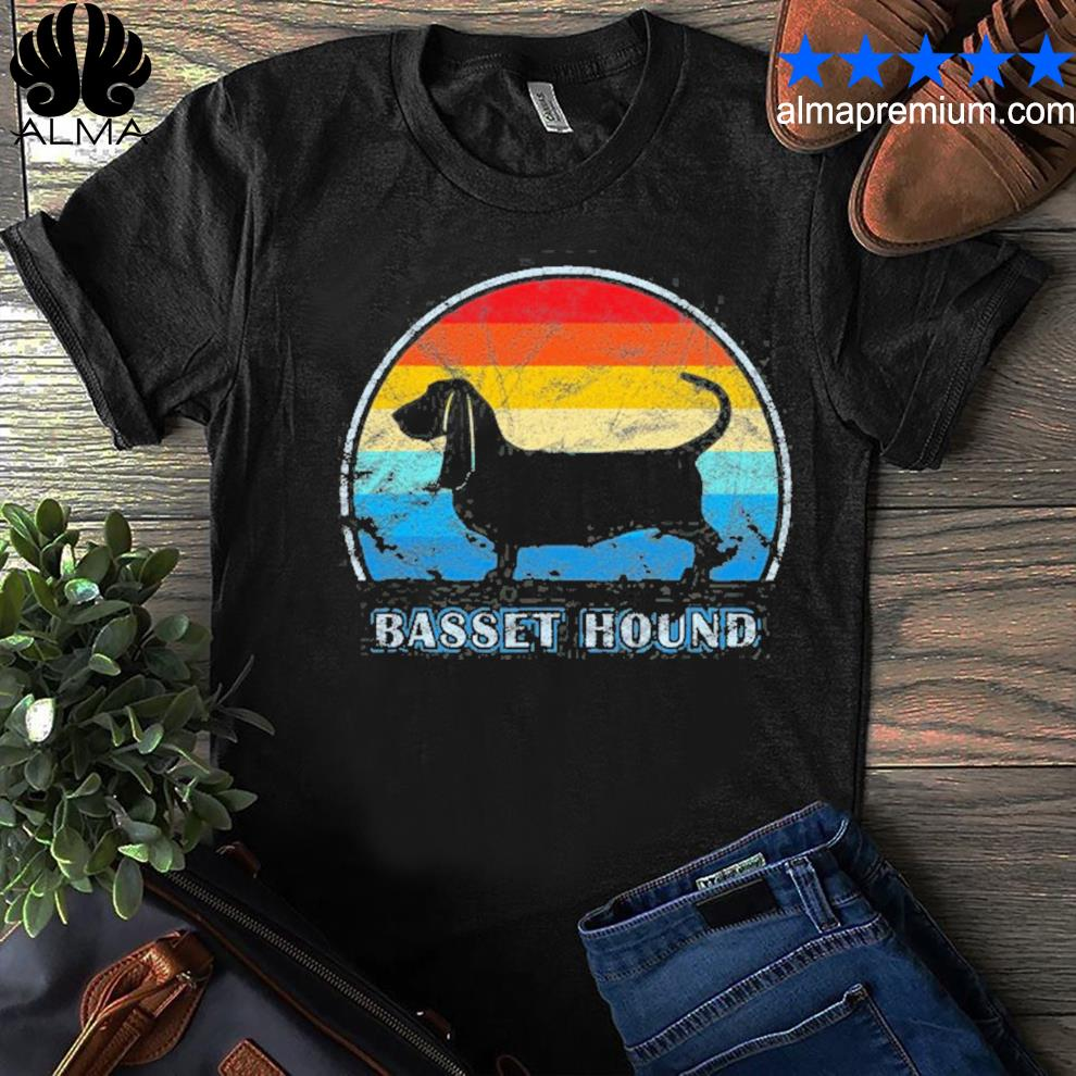 Basset hound vintage design dog shirt