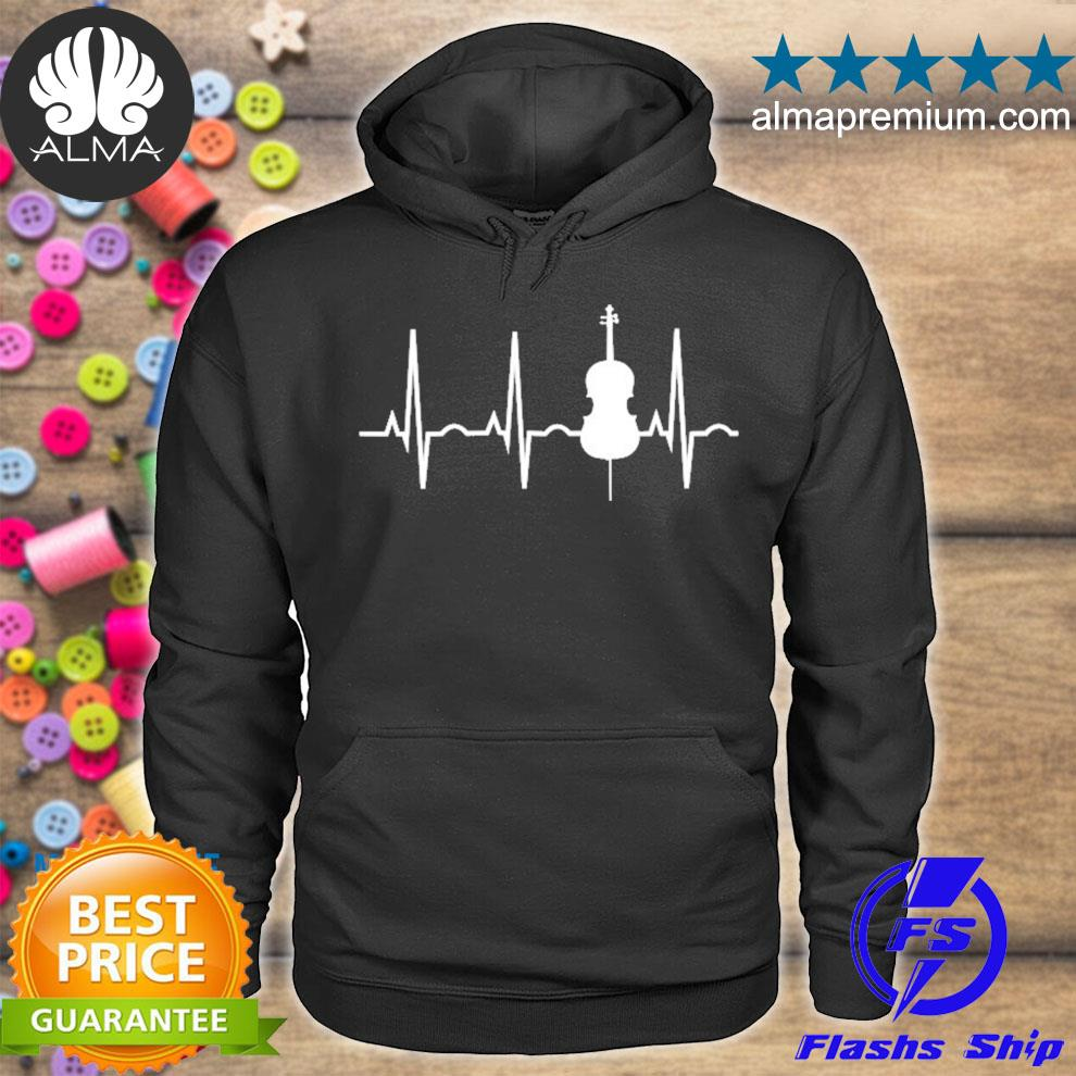 Cello player cellist heartbeat orchestra gift s hoodie