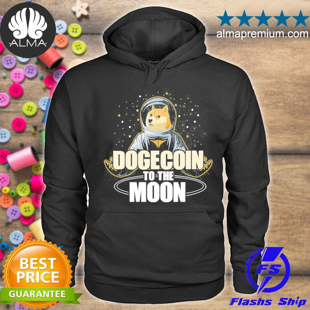 Dogecoin to the moon doge hodl rocket crypto meme s hoodie