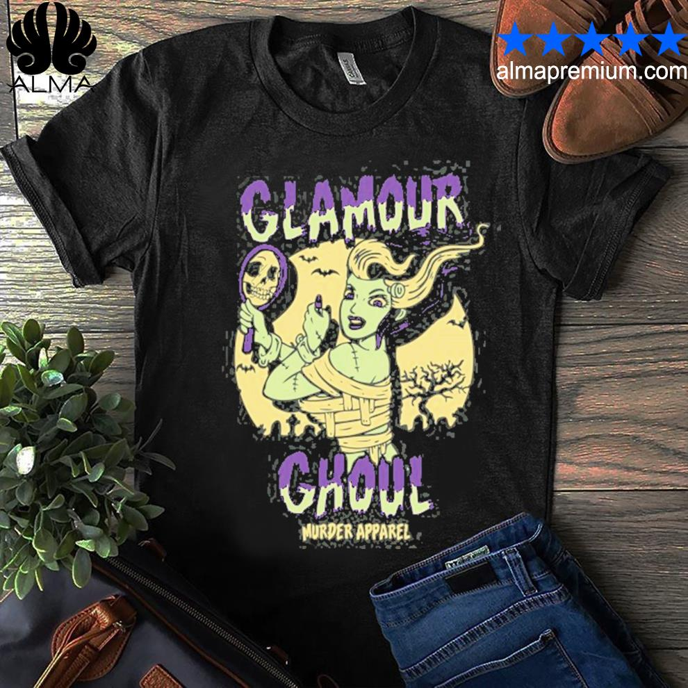 Glamour ghoul vintage halloween monster shirt