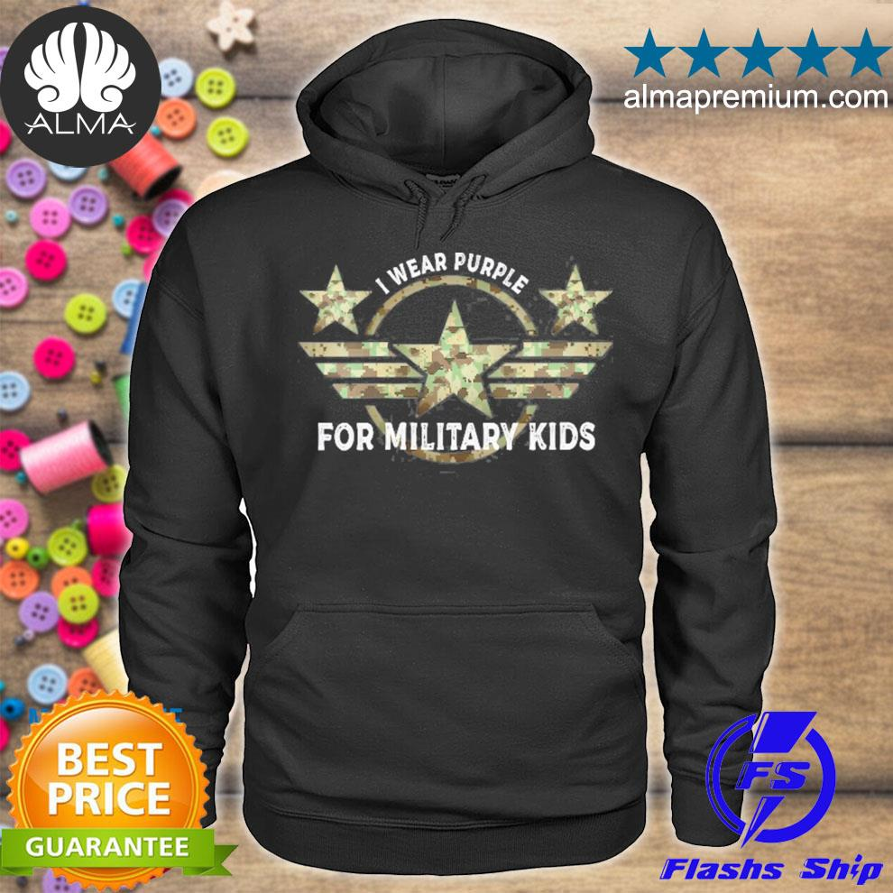 I wear purple for military kids month of the military child s hoodie