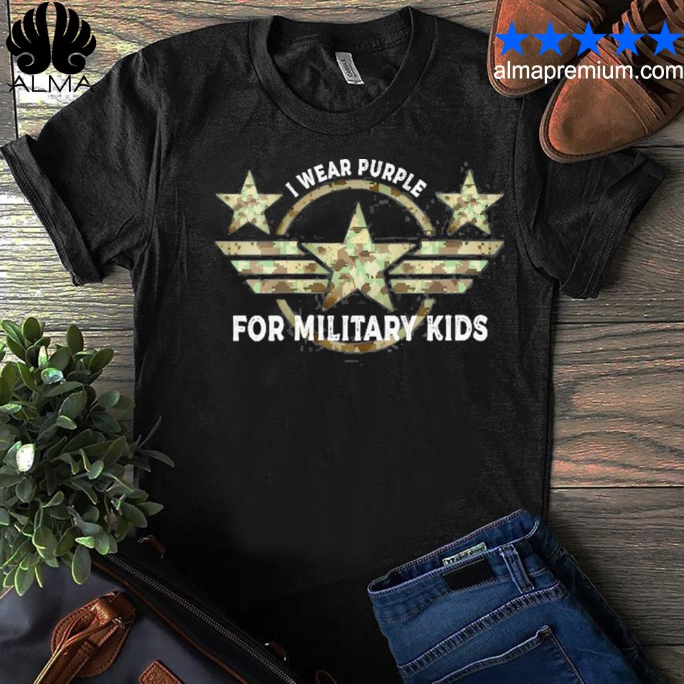 I wear purple for military kids month of the military child shirt
