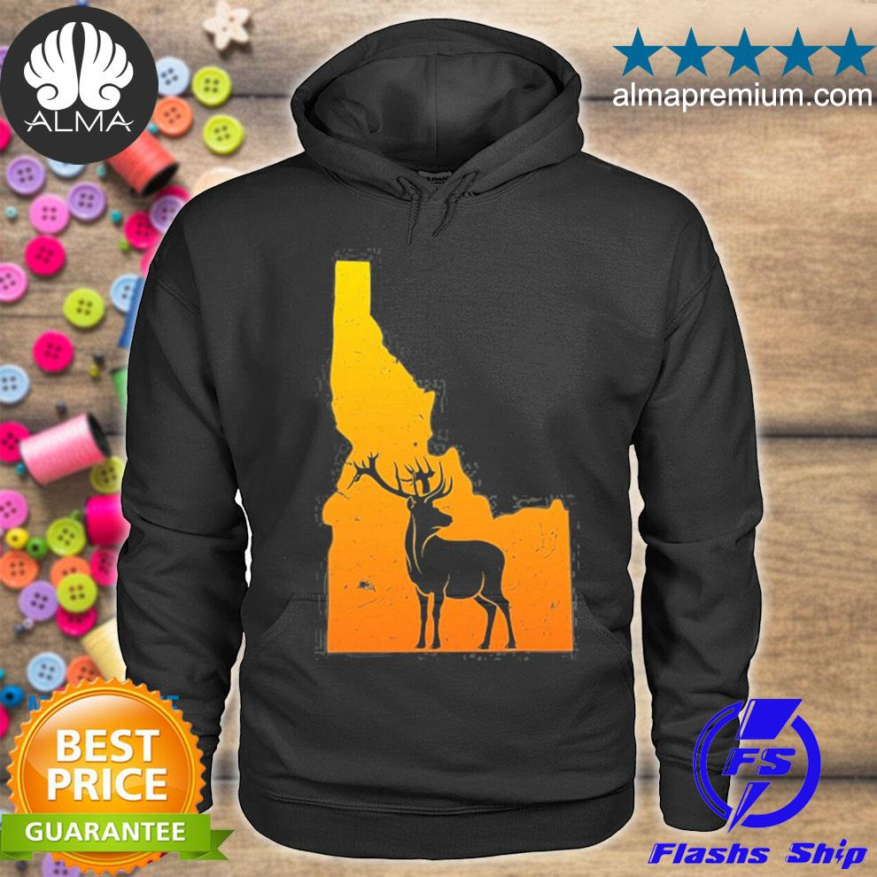 Idaho elk wild wilderness camping and hiking nature usa s hoodie