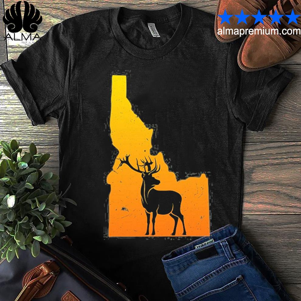 Idaho elk wild wilderness camping and hiking nature usa shirt