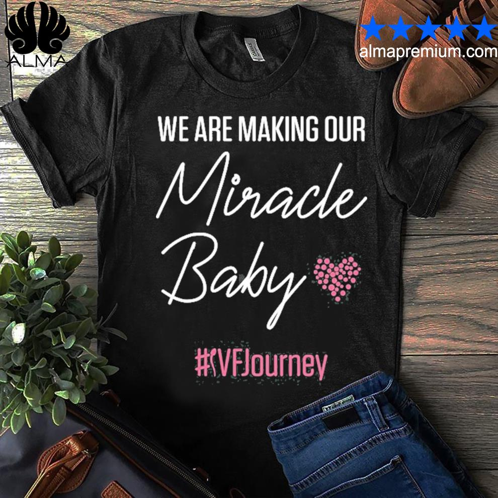 Ivf warrior dad mom baby transfer day infertility shirt