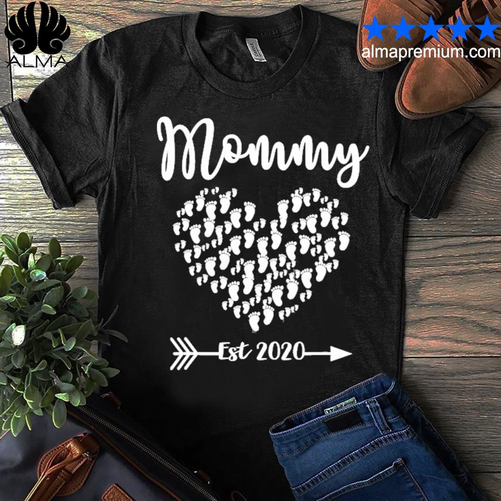 First Mother/'s Day As A Mommy Written Pregnancy Shirt \\ Mom To Be Shirt \\ Valentine/'s Day Pregnant Tees \\ Baby Feet Graphic Designs T-Shirt