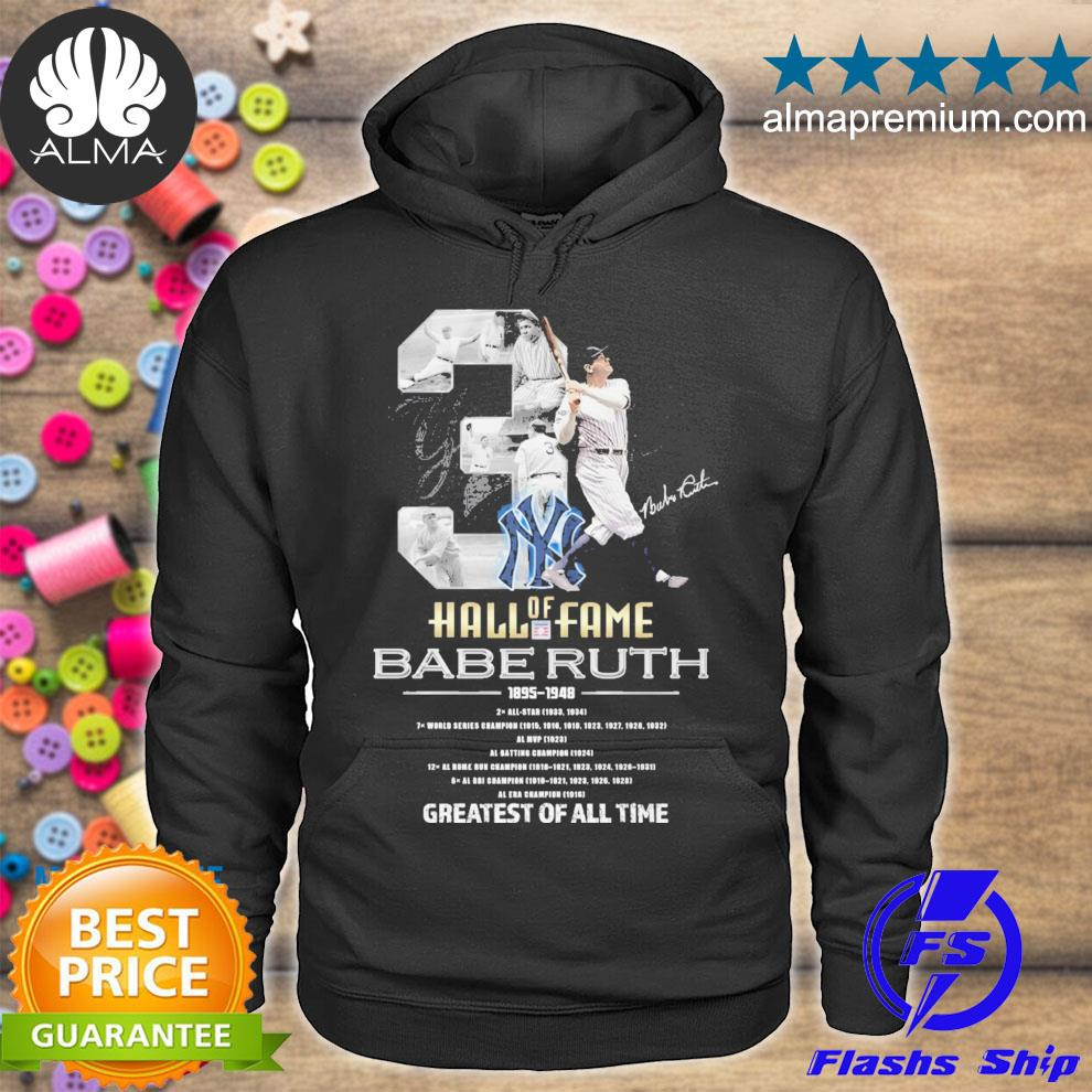 official 2021 babe ruth hall of fame greatest all time s hoodie