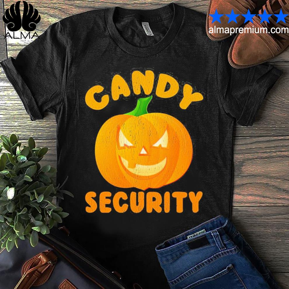 Candy security halloween funny 2021 shirt