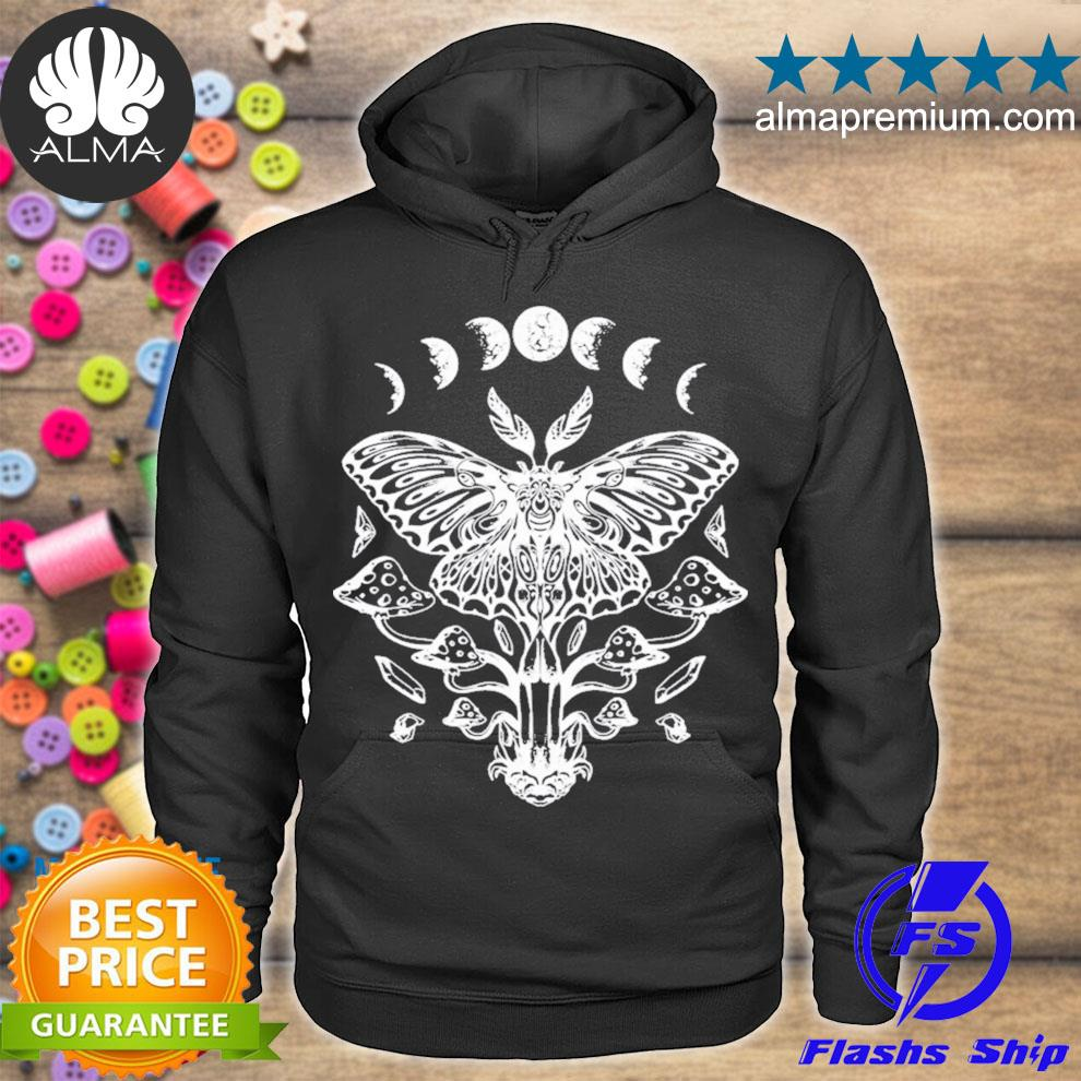 Moth crystals moon phases dark goth gothic occult wicca new 2021 s hoodie