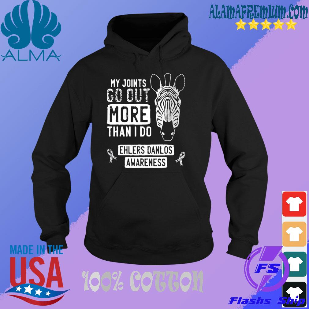 My joints go out ehlersdanlos syndrome eds awareness zebra s HOODIE